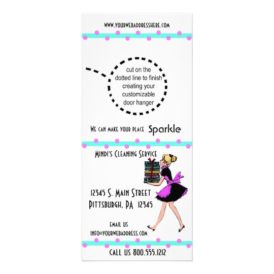 Polka Dot Cleaning Service Rack Cards