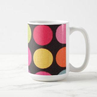 Polka dot coffee mug