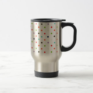 Polka-dot colorful party  confetti 15 oz stainless steel travel mug