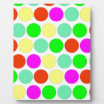 Polka dot, Colors set 2 Photo Plaques