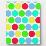 Polka dot, Colors set 3 Display Plaque