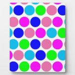 Polka dot, Colors set 4 Display Plaques