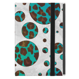 Polka Dot Cow Brown and Teal Print Case For iPad Mini