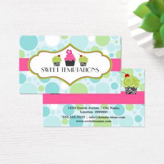 Polka Dot Crazy Cupcake Bakery Business Card