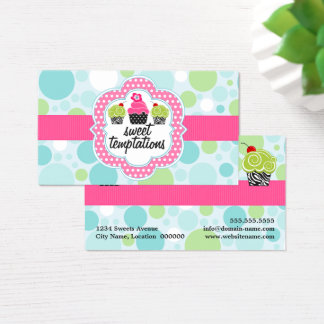 Polka Dot Crazy Cupcake Bakery Business Card