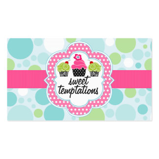 Polka Dot Crazy Cupcake Bakery Double-Sided Standard Business Cards (Pack Of 100)
