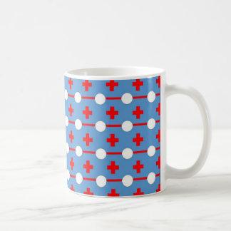 Polka dot & crosses pattern classic white coffee mug