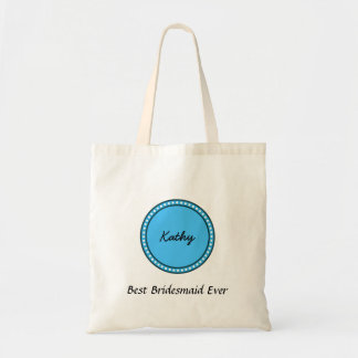 Polka Dot Custom Name Sentiment V15 Tote Bag