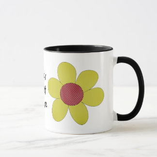 polka dot cutie yellow mug