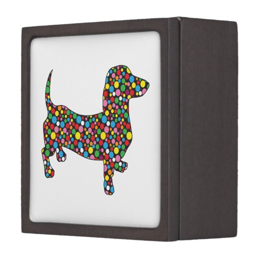 Polka Dot Dachshund Jewelry Box Zazzlecom