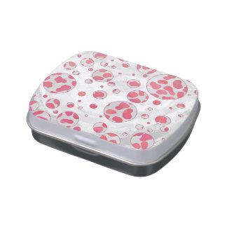 Polka Dot Dalmatian Pink and White Candy Tin