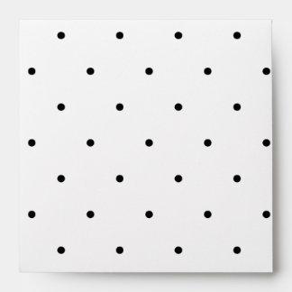 Polka Dot Design Black And White Customisable Envelope