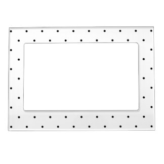 Polka Dot Design Black And White Customisable Magnetic Frame