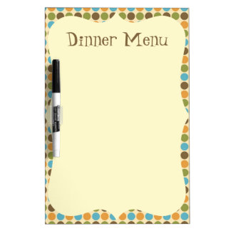 Polka Dot Dinner Menu Dry-Erase Board