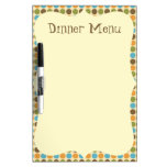 Polka Dot Dinner Menu Dry Erase Whiteboard