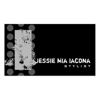 Polka Dot Distressed - Monogram I Double-Sided Standard Business Cards (Pack Of 100)