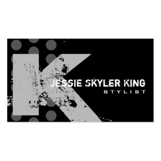 Polka Dot Distressed - Monogram K Double-Sided Standard Business Cards (Pack Of 100)