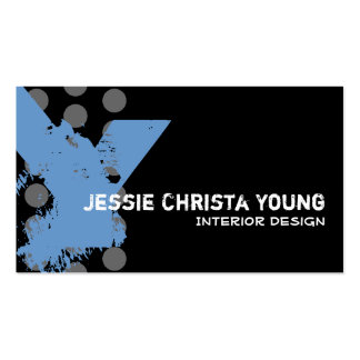 Polka Dot Distressed - Monogram Y Double-Sided Standard Business Cards (Pack Of 100)