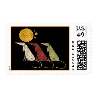 Polka Dot Dogs and Moon Postage Stamps