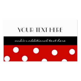 Polka Dot Double-Sided Standard Business Cards (Pack Of 100)