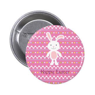 Polka Dot Easter Bunny Button