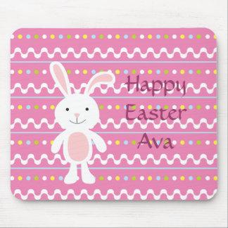Polka Dot Easter Bunny Mousepad