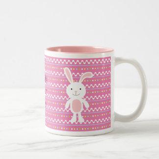 Polka Dot Easter Bunny Mug