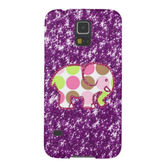 Polka Dot Elephant Sparkly Purple Girly Gifts Galaxy S5 Covers