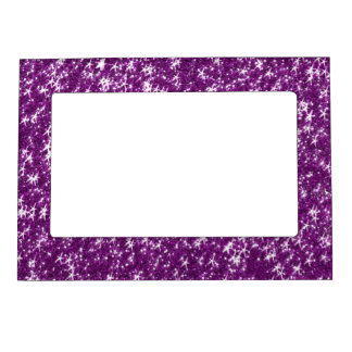 Polka Dot Elephant Sparkly Purple Girly Gifts Magnetic Photo Frame