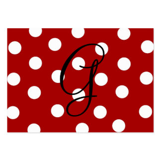 Polka Dot Enclosure Card Large Business Cards (Pack Of 100)