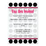 Polka Dot Fashion Invitation
