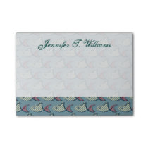 Polka Dot Fish Pattern | Add Your Name Post-it Notes