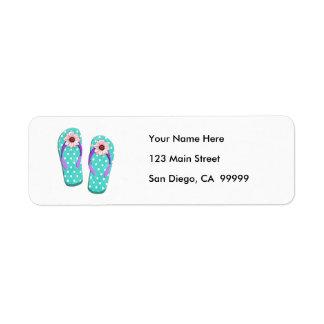 Polka Dot Flip Flops Custom Return Address Label