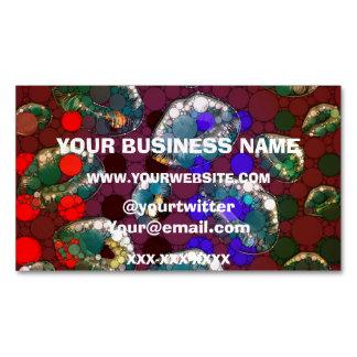 Polka-dot Florescent Lips Business Card Magnet