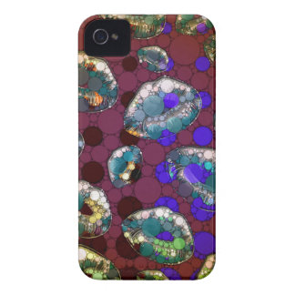 Polka-dot Florescent Lips iPhone 4 Case