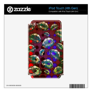 Polka-dot Florescent Lips Skins For iPod Touch 4G