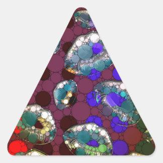 Polka-dot Florescent Lips Triangle Sticker