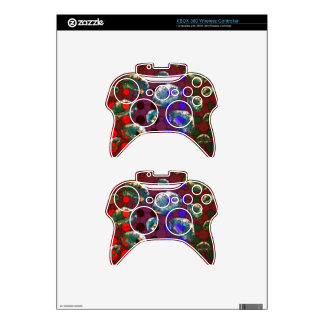 Polka-dot Florescent Lips Xbox 360 Controller Skins