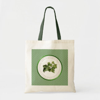 Polka Dot Flower Meanings - Green Ivy Canvas Bag
