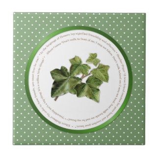 Polka Dot Flower Meanings - Ivy Small Square Tile