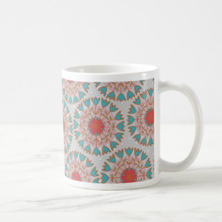 Polka Dot Folksy Classic White Coffee Mug