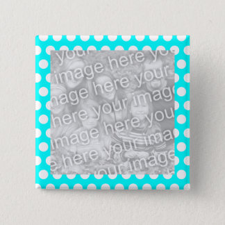 Polka Dot Frame Photo Button