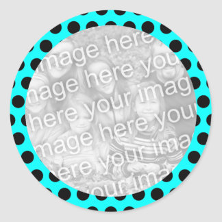 Polka Dot Frame Photo Sticker
