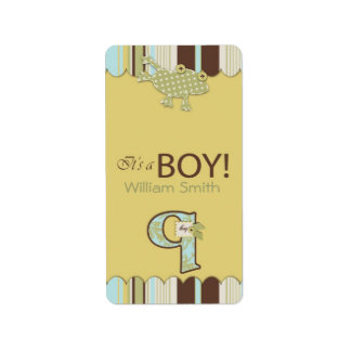 Polka Dot Frog & Stripe Mini Hershey Bar Label