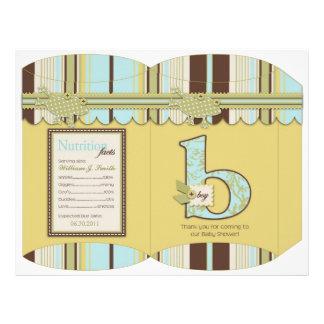 Polka Dot Frog & Stripe Print DIY Box Template Custom Flyer