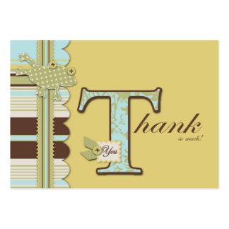 Polka Dot Frog Stripe Print Thank You Gift Tag Business Card Template
