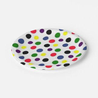 Polka Dot Fun 7 Inch Paper Plate
