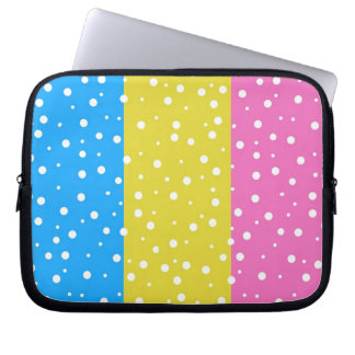 Polka Dot Fun - Pink, Blue & Yellow Computer Sleeves