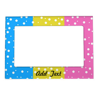Polka Dot Fun - Pink, Blue & Yellow Magnetic Photo Frame
