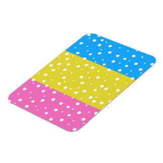 Polka Dot Fun - Pink, Blue & Yellow Flexible Magnets